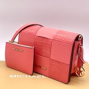 Michael Kors Mercer Small X-Body Clutch and Wallet